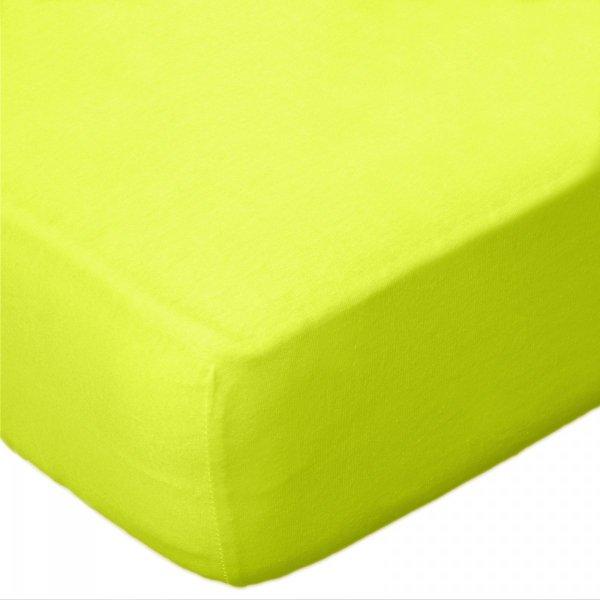 Prześcieradło JERSEY 70x140 na gumkę wz. D034 (limonkowy)