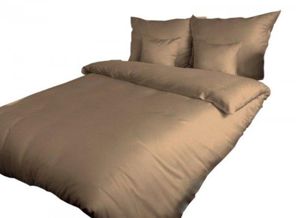 Poszewka na poduszkę 50x60 - 100% bawełna satynowa, zapięcie na zamek kolor ciemny beż 041
