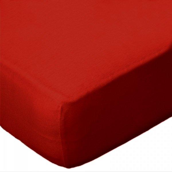 Prześcieradło jersey 220x200 z gumką wz. D029 (czerwony)