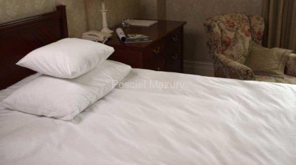 Poszewka, poszewki na poduszkę biała hotelowa, hotel 40x45, 100% bawełna