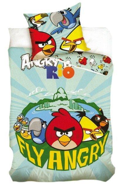 Pościel licencyjna 100% bawełna 160x200 - Angry Birds-AB7002