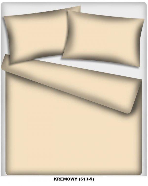 Poszewka kolorowa jednolita , poszwa 50x60, 100% bawełna ITAKA zapięcie na zamek wz. kremowy