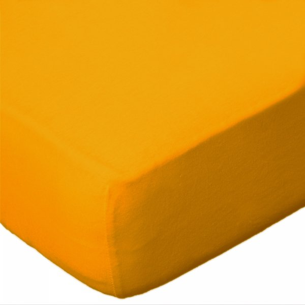 Prześcieradło jersey 140x200 z gumką wz.D004 (żółty)