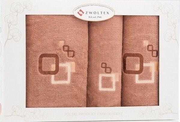 Trzyczęściowy komplet ręczników Banan w pudełku - kolor kakao