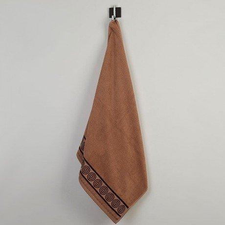 Ręcznik frotte Rondo 70x140 kolor kakaowy