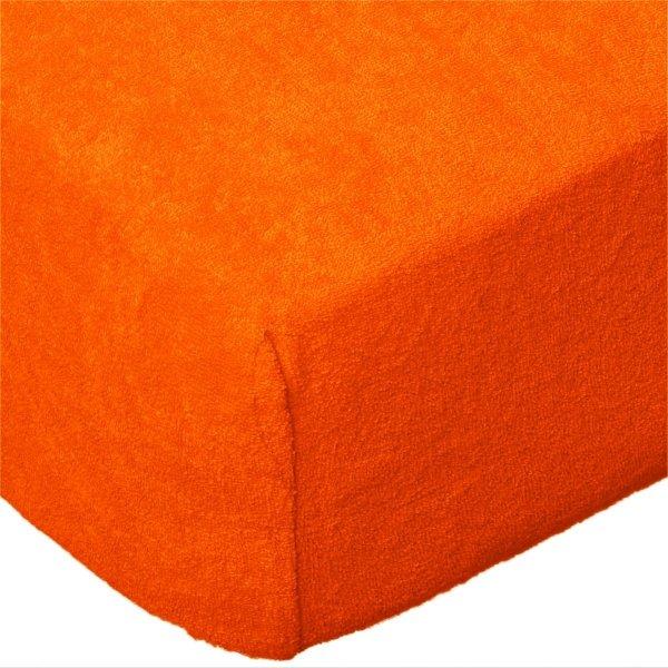 Grube Prześcieradło FROTTE 160x200 na gumkę wz. K31 pomarańczowy
