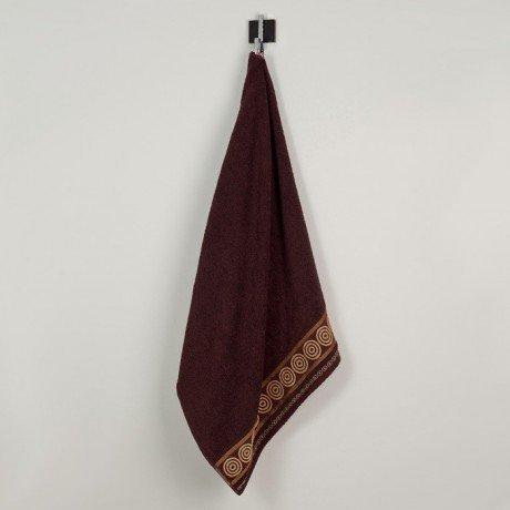Ręcznik frotte Rondo 50x90 kolor brąz k5