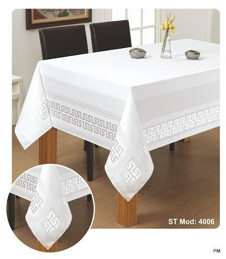 Obrus teflonowy rozmiar 140x260 wzór biały (190)