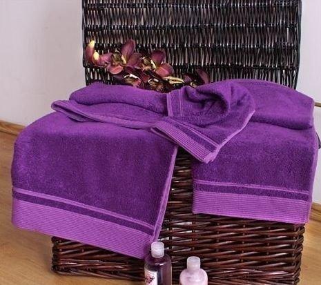 Ręczniki Bambusowe - komplet 2 częściowy (70x140+50x60) Fioletowy