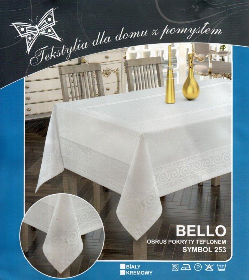 Obrus teflonowy bello rozmiar 85x85 wzór biały (253)
