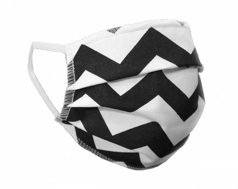 Maska ochronna 2-warstwowa 100% bawełny - wielorazowa 60°C wz. 15 ZYGZAK