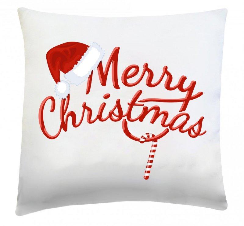 Poduszka świąteczna 40x40 wz. Merry Christmas 2