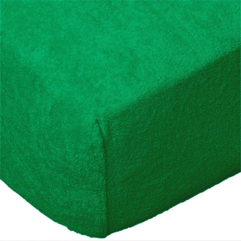 Grube Prześcieradło FROTTE 220x200 na gumkę wz. K11 ciemno zielony