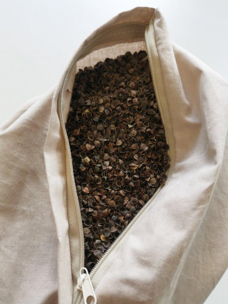 Ekologiczna łuska gryki, wypełnienie do poduszek 1 kg
