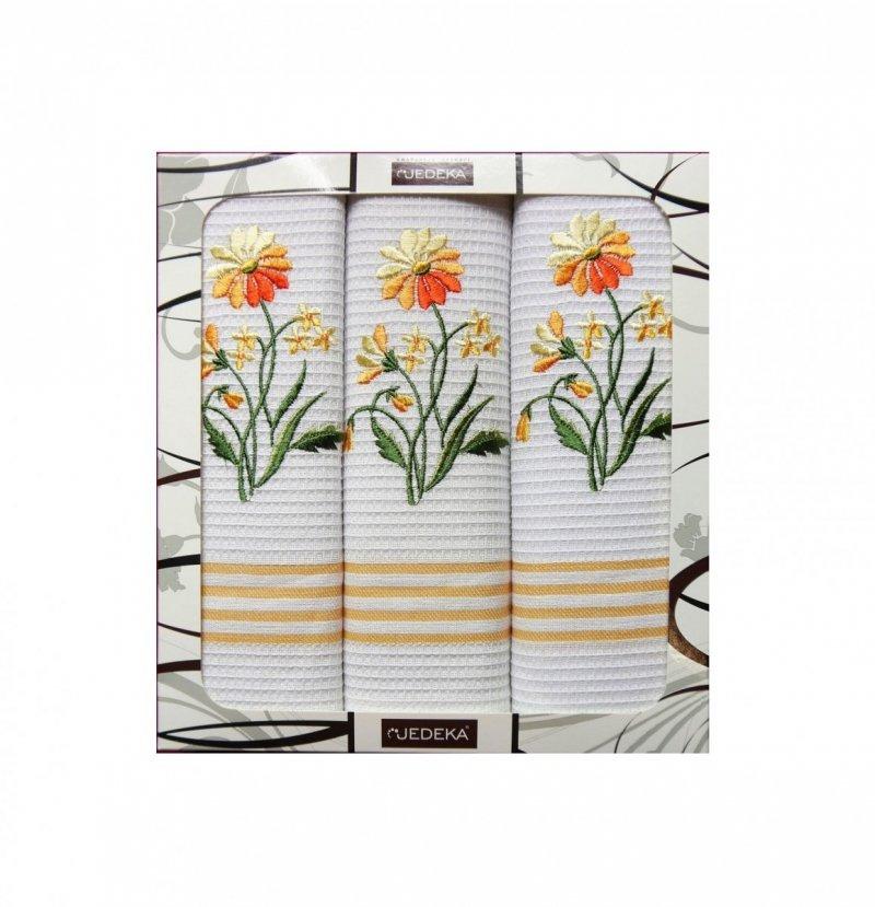 Zestaw kuchenny 3 ściereczek 69x47 wz. Kwiatek