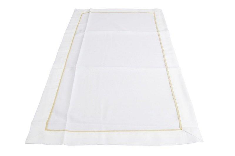 Obrus z mereżką rozmiar 50x100 wzór biały (210)