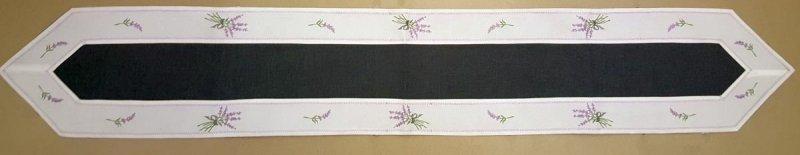 Bieżnik Wielkanocny Świąteczny 28x180 Kolor: biało - czarny