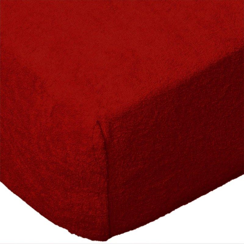 Grube Prześcieradło FROTTE 140x200 na gumkę wz. 029 czerwony
