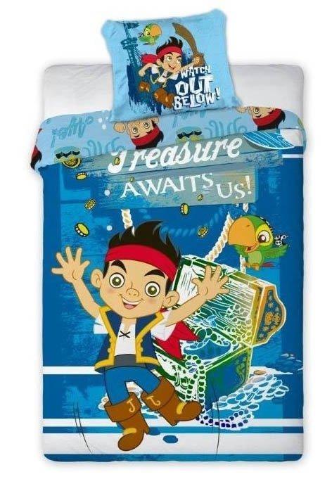 Pościel licencyjna Disney 100% bawełna 160x200 lub 140x200 - Jake and the Never Land Pirates- wz. 01