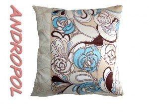 Poszewka na poduszkę 40x40 - 100% bawełna satynowa DARYMEX, zapięcie na zamek wz. fiolet