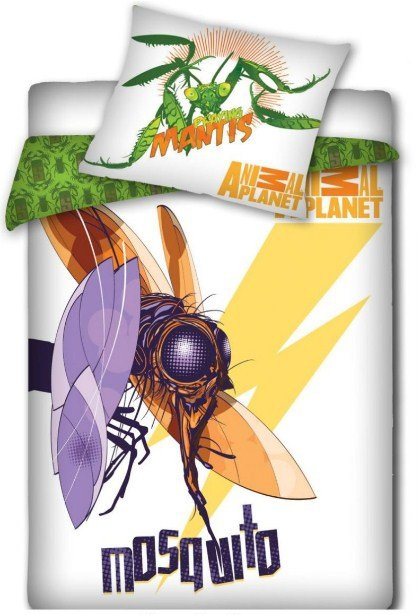 Pościel licencyjna Animal Planet 100% bawełna 160x200 - Mosquito - Komar