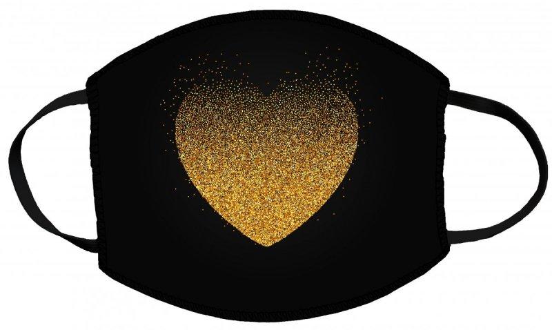 Maska z nadrukiem 2-warstwowa wielorazowa 60°C wz. WALENTYNKI 58