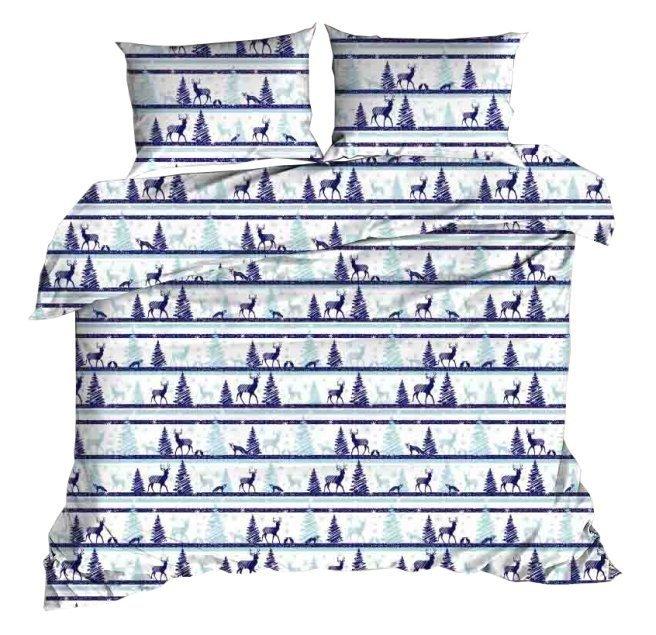 Pościel świąteczna 140x200, 100% bawełna wz. CH 9