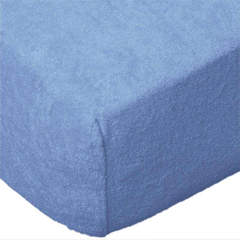 Grube Prześcieradło FROTTE z gumką do łóżeczka 60x120 niebieski 009
