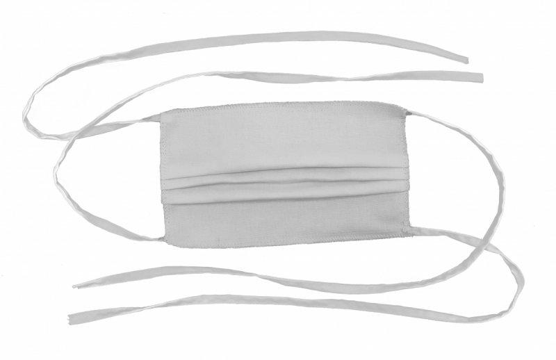 Maska ochronna 2-warstwowa 100% bawełny - wielorazowa 90°C BIAŁA