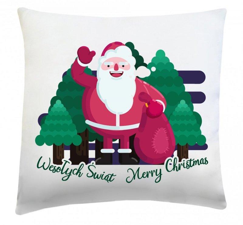 Poduszka świąteczna 40x40 wz. Święty Mikołaj 7