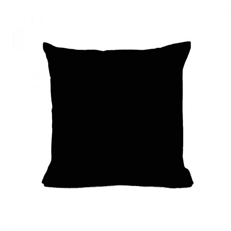 Poszewka na poduszkę RUBIN 40x40 100% bawełna wz. czarny