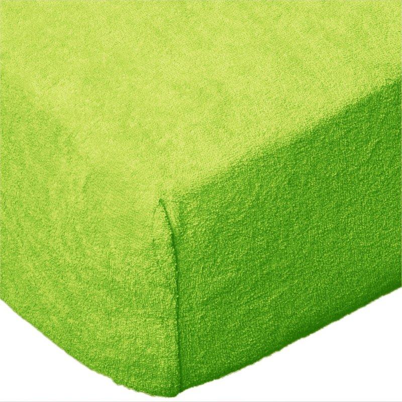 Grube Prześcieradło FROTTE 180x200 na gumkę wz. K29 zielone jabłuszko