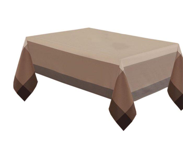 Obrus rozmiar 140x300 wzór beż/czekolada (218)