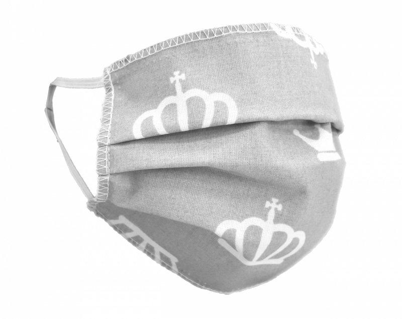 Maska ochronna 2-warstwowa 100% bawełny - wielorazowa 60°C wz. 8 KORONY