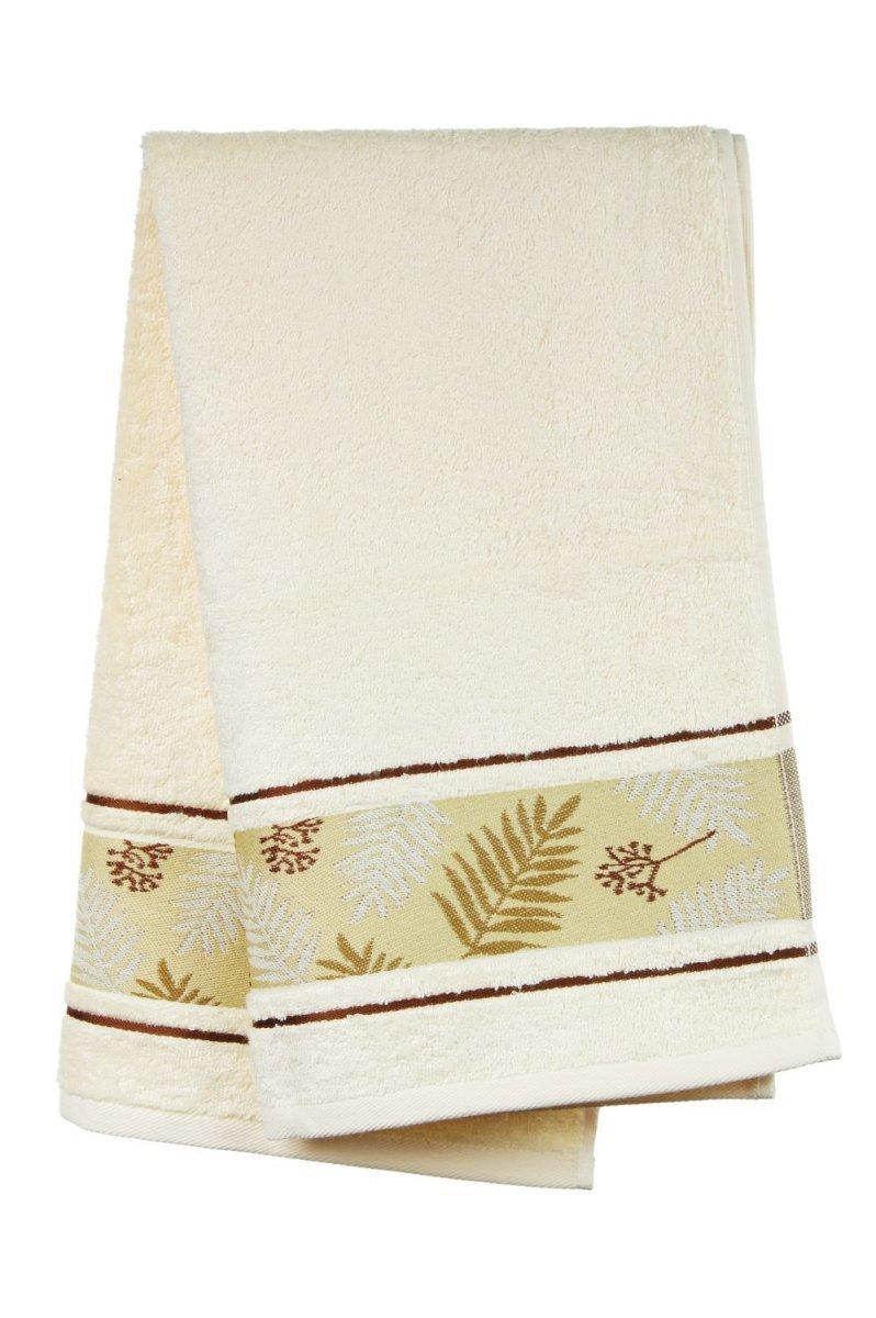 Ręcznik Bambusowy -  50x90  Tropical  KREMOWY