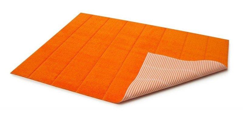 Dywanik łazienkowy prążki - antypoślizgowy 50x70 wz. P10 pomarańczowy