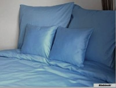 Poszewka na poduszkę 70x80 satyna zapięcie na zamek ANDROPOL kolor niebieski 009