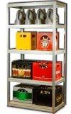 Metallregal Steck-Lager- Schwerlastregal bis 400 kg pro Boden , verzinkt , HZ_180x100x50, 5 Böden