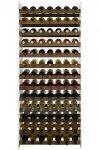 Weinregal Flaschenregal für bis 91 Flaschen, RW-20-91, WEISS/EICHE massiv geölt ANTIKBRAUN