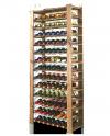 Weinregal für 91  Flaschen RW-3-91 (72x26,5x172), Unbehandelt, Erlen, Braun