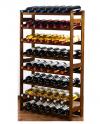 Weinregal für 56 Flaschen RW-1-56 (72x25x118), Unbehandelt, Erlen, Braun