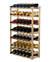 Weinregal für 42 Flaschen RW-1-42 (62,5x25x102), Unbehandelt, Erlen, Braun