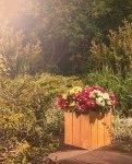 Blumenkübel aus Holz Serie RD-1-30, 30x27x31 cm