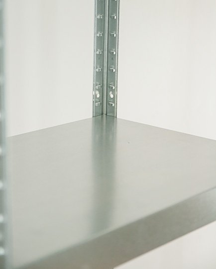 Metallregal ganz aus Metall Elara,   EZ_180x100x40 5 Böden 120 kg verzinkt