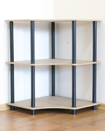 Dedal-3W Eckregal 74x56x56cm / 3 Böden / 5 Farben zur Auswahl