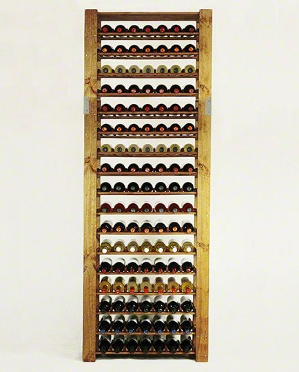 Weinregal für 119 Flaschen RW-5-4 (80x30x233), Unbehandelt, Erlen, Braun