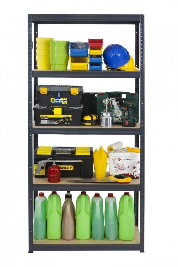 Metallregal Werkstatt Schwerlastregal Helios 180x075x50_5 Böden, Tragkraft bis 400 Kg pro Boden,  Viele Farben zur Auswahl