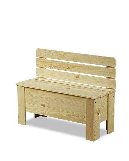Holztruhe  Truhenbank Sitzbank für Kinder Spielkiste B-12 /unbehandelt, (71x29x54 cm)