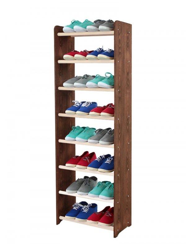 Schuhregal RBS-8-45  /  8 Farbvarianten zur Wahl, (135x45x24)