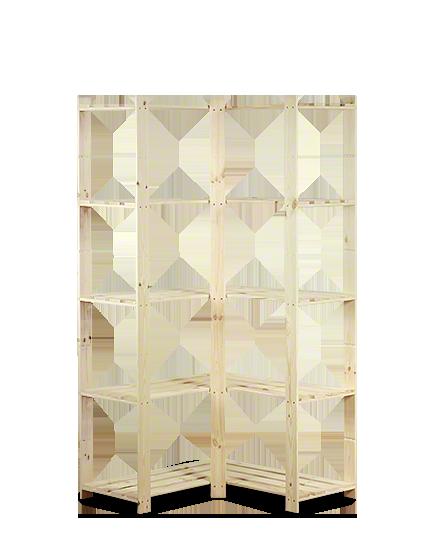 Holzregal 5 Böden 170x85x38cm, B-20, Unbehandelt